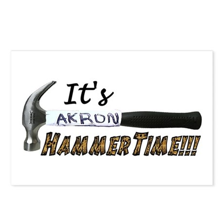 It's Akron HammerTime!!! Postcards (Package of 8)