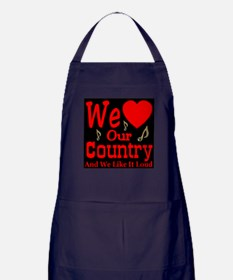 We Love Our Country Apron (dark)