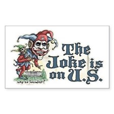 Anti Obama Joker Rectangle Decal