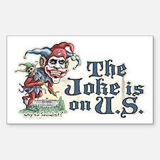 Anti Obama Joker Rectangle Decal