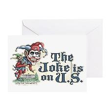 Anti Obama Joker Greeting Card