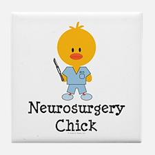 Neurosurgery Chick Tile Coaster