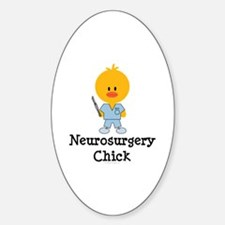 Neurosurgery Chick Oval Decal