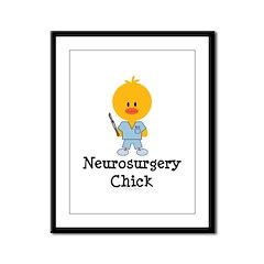 Neurosurgery Chick Framed Panel Print