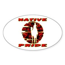 Native Pride #1002 Oval Decal