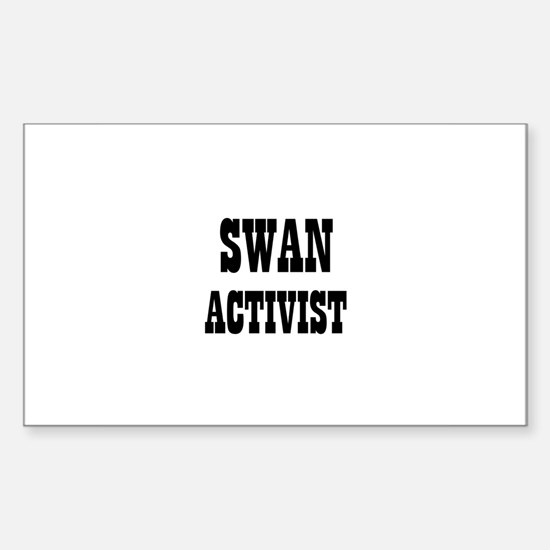 SWAN ACTIVIST Rectangle Decal
