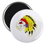 Skull Indian Headdress Magnet