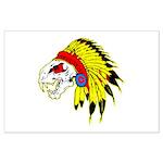 Skull Indian Headdress Large Poster