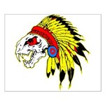 Skull Indian Headdress Small Poster