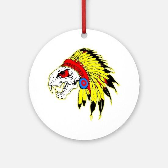 Skull Indian Headdress Ornament (Round)