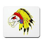 Skull Indian Headdress Mousepad