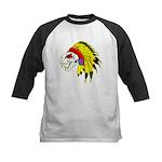 Skull Indian Headdress Kids Baseball Jersey