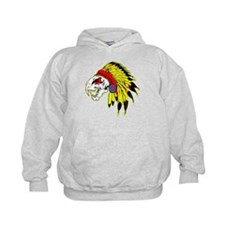 Skull Indian Headdress Hoodie