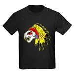 Skull Indian Headdress Kids Dark T-Shirt