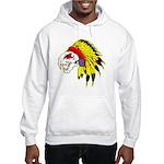 Skull Indian Headdress Hooded Sweatshirt