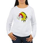 Skull Indian Headdress Women's Long Sleeve T-Shirt