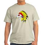Skull Indian Headdress Light T-Shirt