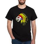Skull Indian Headdress Dark T-Shirt