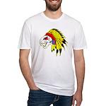 Skull Indian Headdress Fitted T-Shirt
