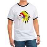 Skull Indian Headdress Ringer T