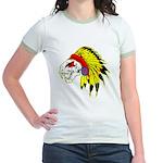Skull Indian Headdress Jr. Ringer T-Shirt