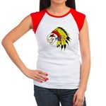 Skull Indian Headdress Women's Cap Sleeve T-Shirt