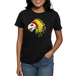 Skull Indian Headdress Women's Dark T-Shirt
