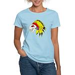Skull Indian Headdress Women's Light T-Shirt