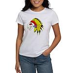 Skull Indian Headdress Women's T-Shirt