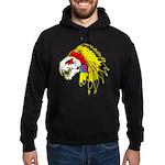 Skull Indian Headdress Hoodie (dark)