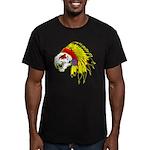 Skull Indian Headdress Men's Fitted T-Shirt (dark)