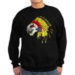 Skull Indian Headdress Sweatshirt (dark)