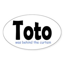 Ode to Toto Oval Decal