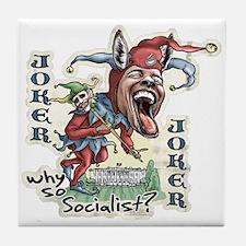 Obama Donkey Joker Tile Coaster