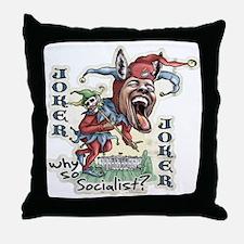 Obama Donkey Joker Throw Pillow