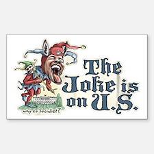 Obama Donkey Joker Rectangle Decal