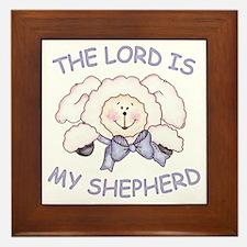 Lord is Shepherd (Lamb) Framed Tile