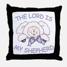 Lord is Shepherd (Lamb) Throw Pillow