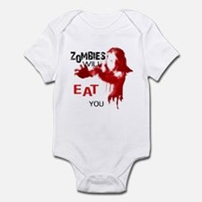 Zombies Will Eat You Infant Bodysuit