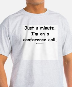 Conference Call -  Ash Grey T-Shirt