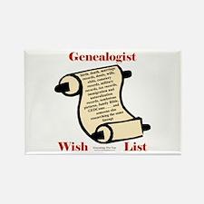 Genealogy Wish List Rectangle Magnet