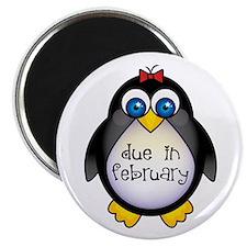"""February Penguin Maternity 2.25"""" Magnet (10 pack)"""