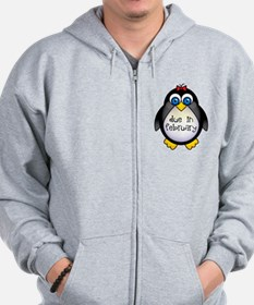 February Penguin Maternity Zip Hoodie