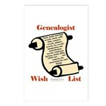 Genealogy Wish List Postcards (Package of 8)