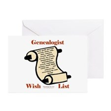 Genealogy Wish List Greeting Cards (Pk of 10)