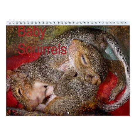 Baby Squirrel Wall Calendar