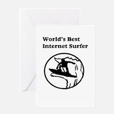 World's Best Internet Surfer Greeting Card