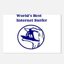 World's Best Internet Surfer Postcards (Package of