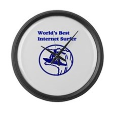 World's Best Internet Surfer Large Wall Clock