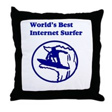 World's Best Internet Surfer Throw Pillow